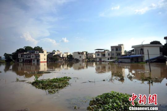 广西崇左风灾之后再遭洪灾 受灾人口上百万(组图)