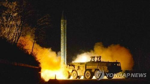 朝鲜今晨向半岛东部海域发射1枚中程弹道导弹