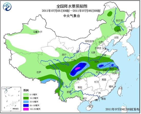 四川黄淮等地有较强降水 江南华南有高温天气
