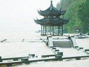 杭州西湖长桥被淹没