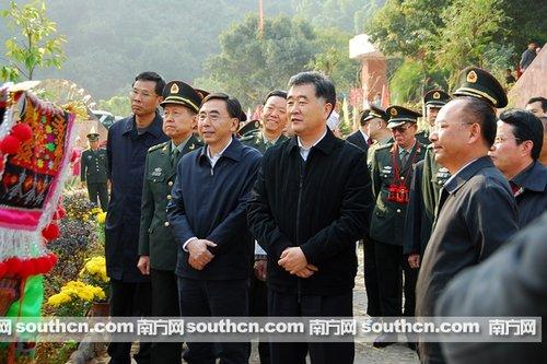 汪洋表示党管武装工作只能加强不能削弱