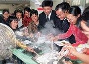 1999年,留深青工春节吃饺子