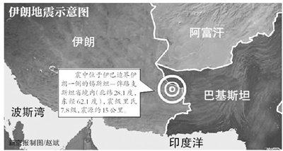 伊朗7.8级地震无中国公民伤亡 核电站未遭破坏