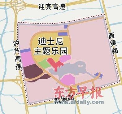 """上海迪士尼本月开建主题乐园 为土地""""绣花"""""""