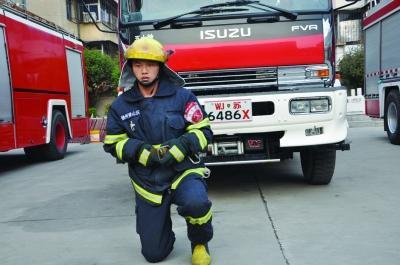 赵帅,河南省濮阳市人,2012年入伍,现任徐州市消防支队泉山大队侯山沃中队战士。