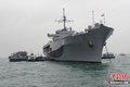 美军两栖指挥舰停靠香港