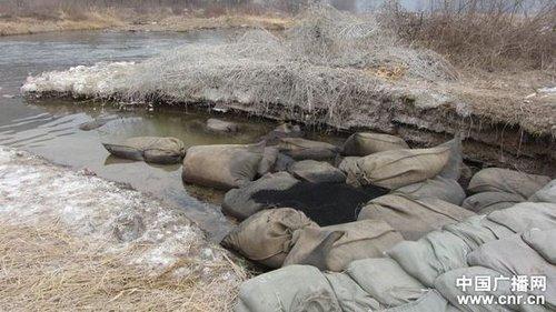 严禁人畜饮用河内废水