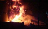 乌鲁木齐批发市场火灾