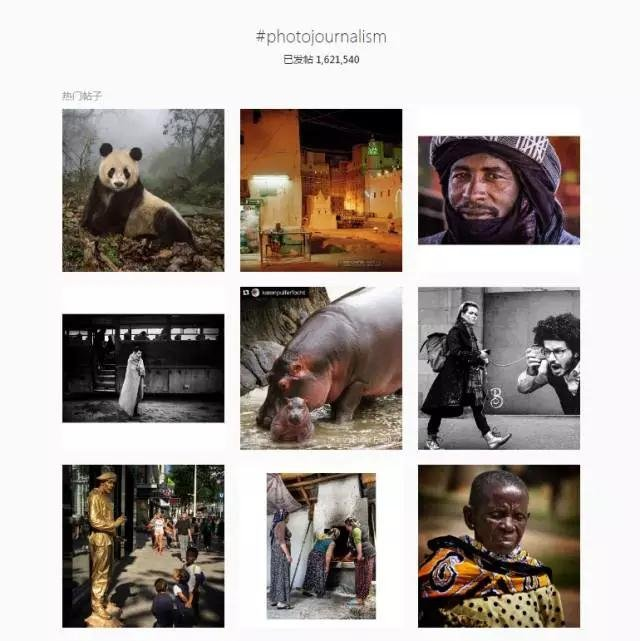 Instagram上的摄影记者话题。