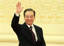高清:温家宝总理会见中外记者