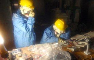 日本公布福岛核电站内部工作照