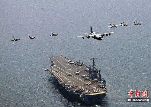 图:韩美海上联合军演结束