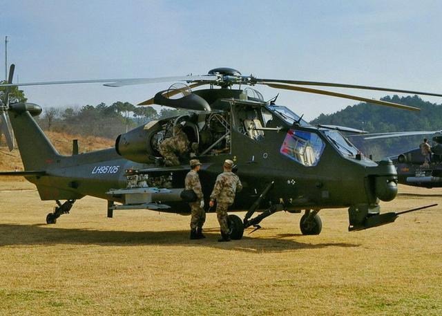 中国陆军航空兵所有作战部队均已装备武直10