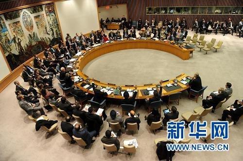 2月4日,联合国安理会就叙利亚问题决议草案进行表决,俄罗斯和中国投了否决票,决议未获通过。新华社记者申宏摄