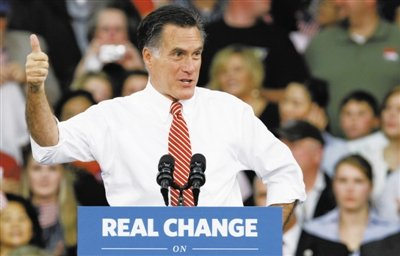 美大选展开最后100小时对决 飓风刮冷罗姆尼热
