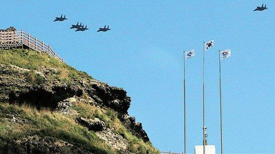 日本军用直升机首次接近独岛 韩国出动f-15驱离
