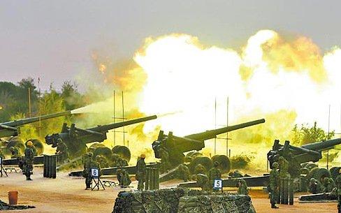 图为台湾军方演习。 台湾《苹果日报》资料图