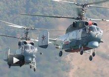 视频:俄军卡27舰载直升机