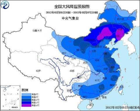 我国中东部将出现大风降温 江南等地有降雨