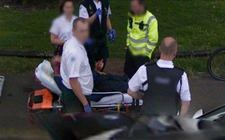 英国受伤男子遭拍不满 向谷歌街景坚中指(图)