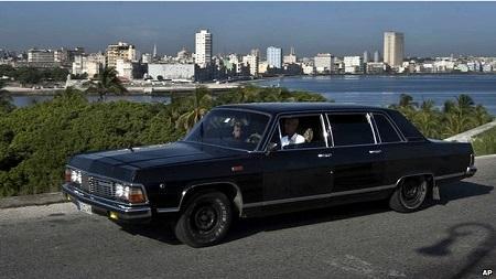 古巴前领导人专车摇身变成哈瓦那街头出租车(图)