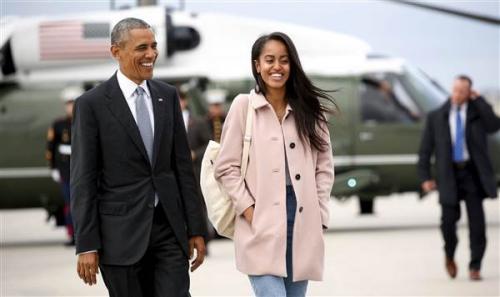 奥巴马长女将上哈佛 欲等老爸离任后再读大学