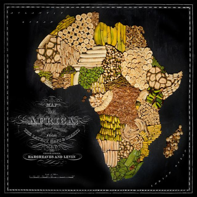 摄影师用各地标志性食物组成世界食物地图(图)