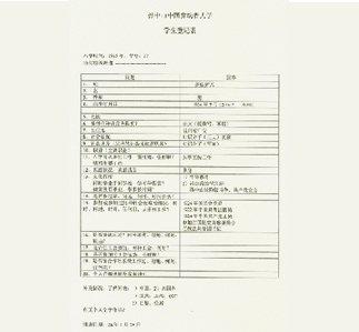 中山大学学生登记表关于邓小平的记录