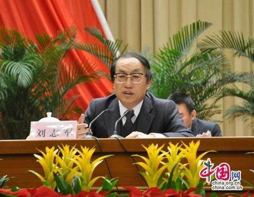 资料图:铁道部部长刘志军(摄影:唐佳蕾/中国网)