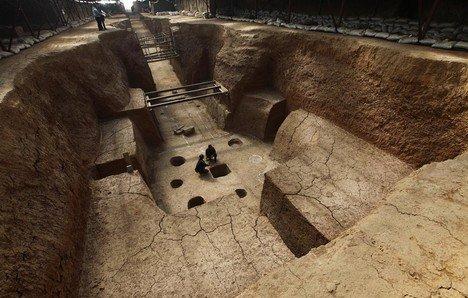 洛阳发掘疑似北魏帝陵 出土东罗马帝国金币