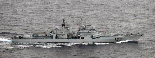 日称中国海军4艘军舰经宫古水路南下西太平洋(图)