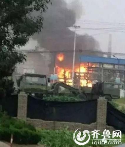 山东日照发生石油储罐泄漏着火事故 爆炸3次