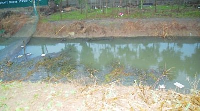 下图:抛尸的小河。 警方供图