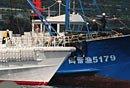 日本拖出我渔船模拟撞船