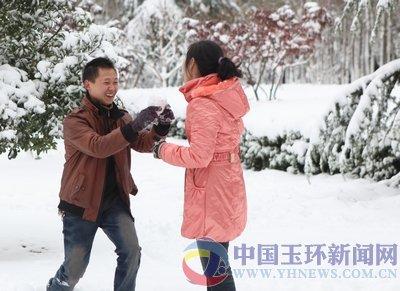 组图:浙江玉环雪中即景——快乐的海洋