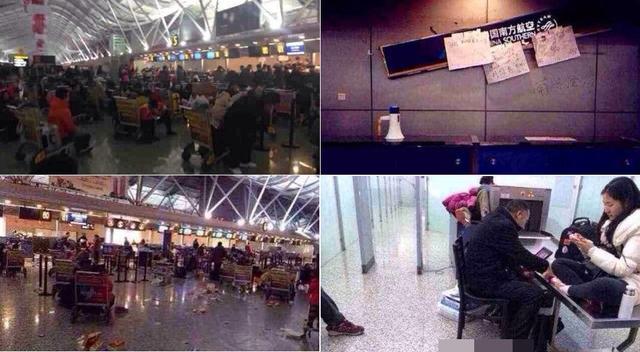 郑州机场关闭问询处被砸 工作人员遭乘客泼饮料