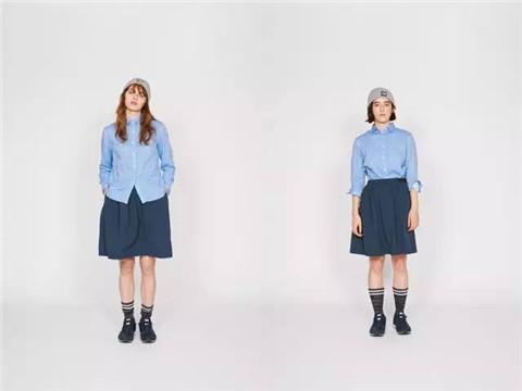 为了感受同一套衣服,在欧美人与亚洲人身上的风格差异,要拍摄这样一组