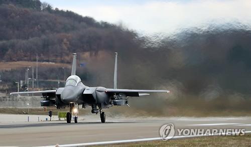 """韩空军首次实弹发射""""金牛座""""导弹 射程500公里"""