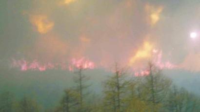 四川康定发生森林大火 木格措景区被迫关闭