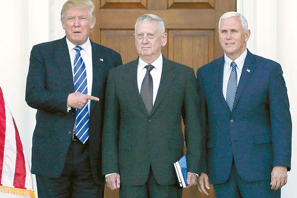 """""""战僧""""马蒂斯将接管美国军队 """"疯狗""""身经百战说话狠"""