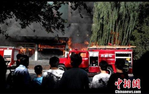 天津蓟县一商厦突发火灾 致10人死亡16人受伤