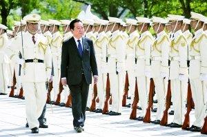 """日本政府决定以20.5亿日元""""购买""""钓鱼岛,首相野田要自卫队做万全准备。"""