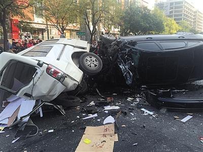 北京奥迪车连撞6车致1人死 肇事司机未涉嫌酒驾