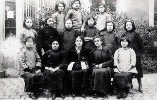 中国留法学生在杉松女校的早期照片