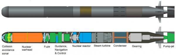 美媒称俄军试射超级核鱼雷 可载千万吨当量核弹