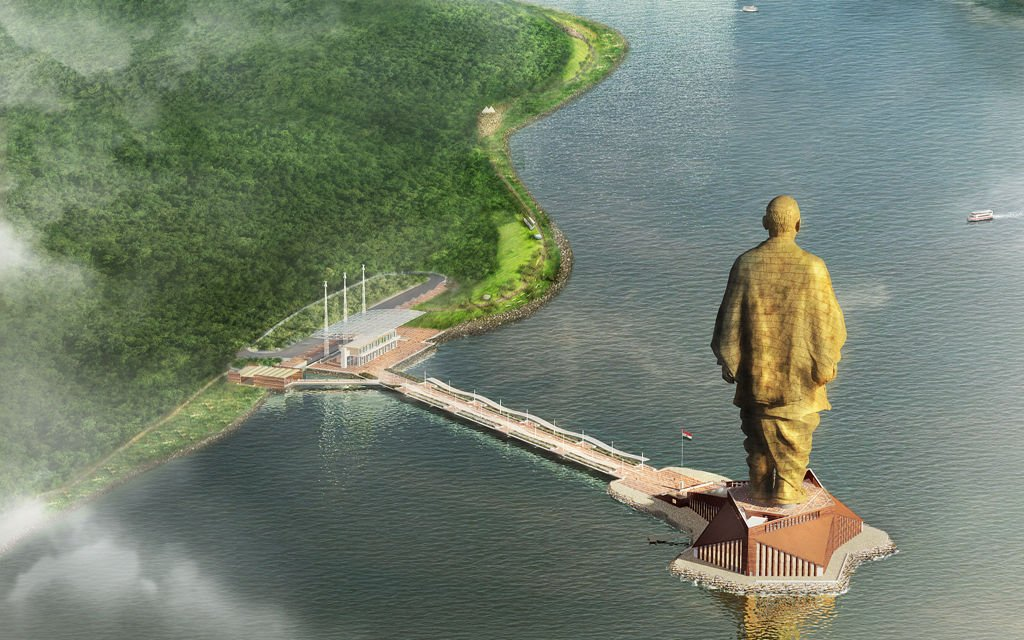 印度造世界最高雕像将于10月完工 高度为自由女神像两倍