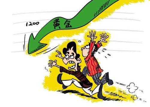 黄金价格下跌_就在7月的第一个交易日,黄金价格即暴跌40多美元,创出一年来黄金价格