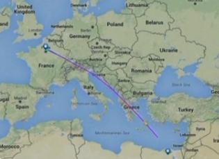 希腊方面表示埃航MS804坠海前曾有360度急转