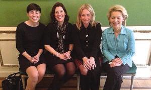 4名欧洲女防长合影曝光 网友称想不和平都难