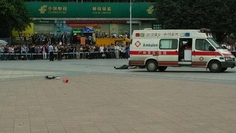 组图:广州火车站砍人事件已致6名群众受伤